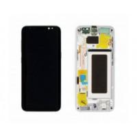 Samsung Galaxy S8 SM-G950F (GH97-20457B) Display incl.Digitizer with frame - Arctic Silver (Silver)