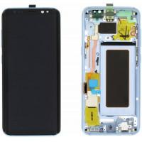 Samsung Galaxy S8 SM-G950F (GH97-20457D) Display incl.Digitizer with frame - Coral Blue (BLUE)