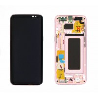 Samsung Galaxy S8 (SM-G950F)  LCD Display + Touchscreen + Frame GH97-20457E Pink