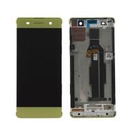 Sony Xperia XA Display+Digitizer + Frame - Lime Gold