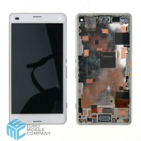 Sony Xperia Z3 Compact LCD With Frame - White
