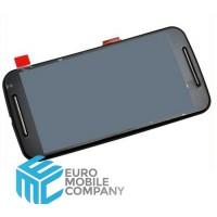 Motorola Moto G2 Display+Digitizer +  Frame -  black